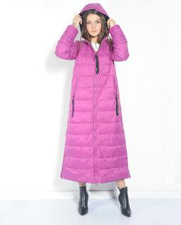 Pikowany długi płaszcz dwustronny