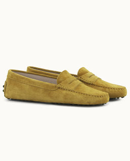 Musztardowe loafery Gommino Driving