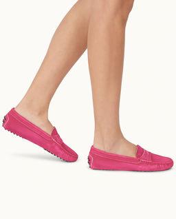 Różowe loafery Gommino Driving