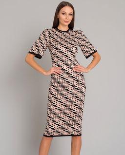 Dzianinowa sukienka z logowaniem