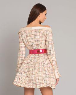 Sukienka off shoulder z paskiem