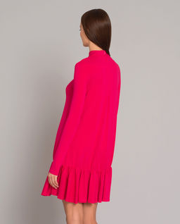 Neonowa sukienka ze stójką