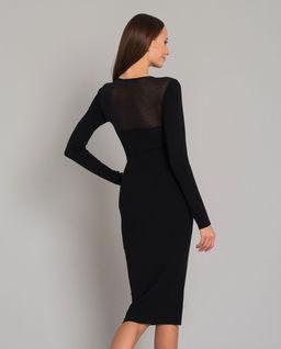 Dzianinowa sukienka z transparentną górą