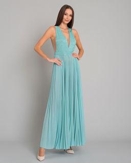 Plisowana sukienka maxi