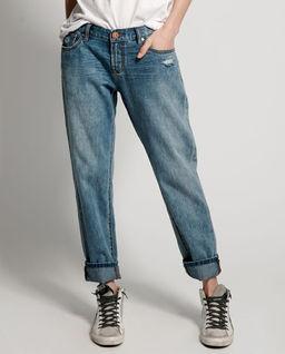 Spodnie jeansowe typu boyfriend