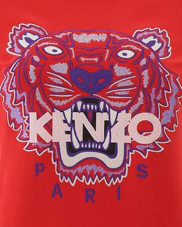 Czerwona bluza z tygrysem