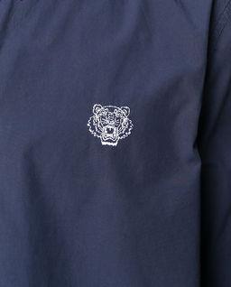 Granatowa koszula z tygrysem