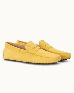 Żółte loafery Gommino Driving