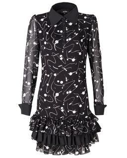Sukienka z falbanami Oui