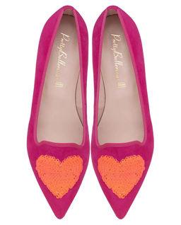 Zamszowe loafery z sercem