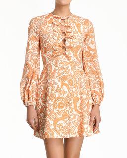 Lniana sukienka we wzory
