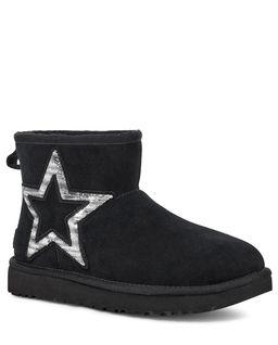 Czarne śniegowce Classic Mini Star