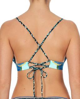 Top od bikini z kryształami Swarovskiego