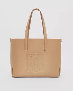 Skórzana torba z wytłoczonym monogramem
