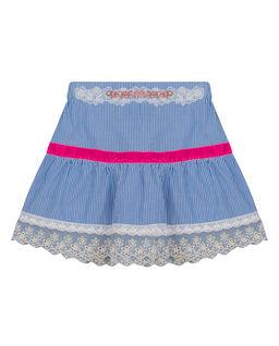 Spódnica w paski z aksamitką