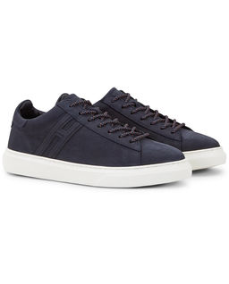 Granatowe sneakersy H365