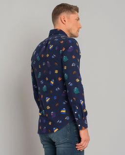 Bawełniana koszula z naszywkami