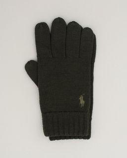 Zielone rękawiczki z wełny