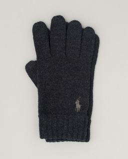 Grafitowe rękawiczki z wełny