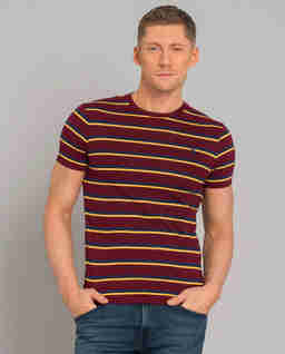 Koszulka w paski Custom Slim Fit