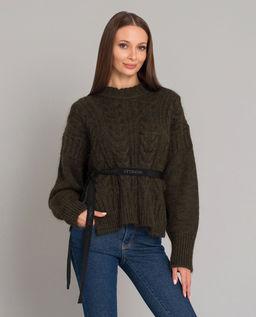 Sweter z ozdobną wstążką