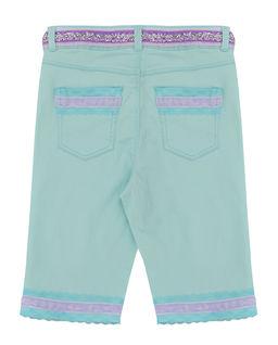 Spodenki jeansowe seledynowe