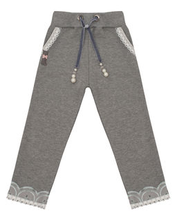 Spodnie dresowe ze zdobieniami