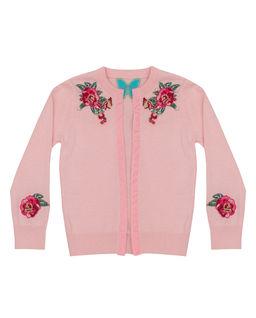 Różowy kardigan