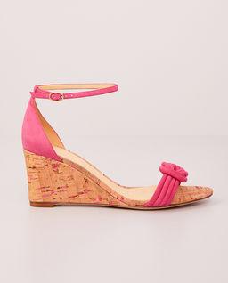 Różowe sandały na koturnie Vicky