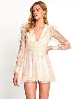 Pudrowa sukienka Floyd
