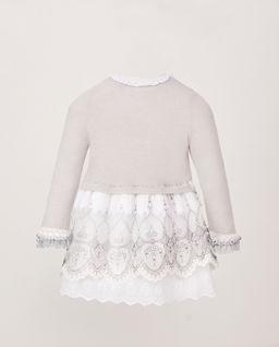 Sukienka z białą halką