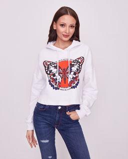Bluza z aplikacją motyla