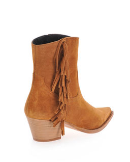 Semišové kovbojské boty