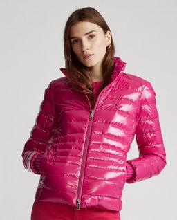 Różowa kurtka puchowa