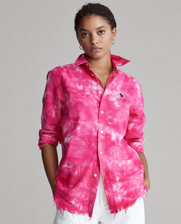 Różowa koszula Oxford