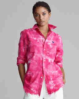 Różowa koszula Oxford Relaxed Fit