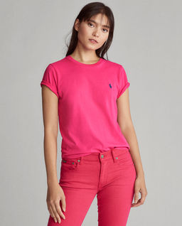 Różowy t-shirt z logo