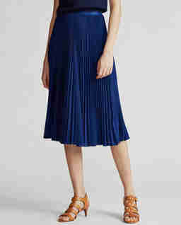 Plisované midi sukně