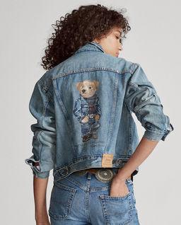 Kurtka jeansowa z misiem