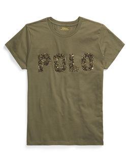 Zelené tričko s korálky