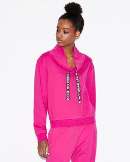 Różowa bawełniana bluza