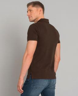 Brązowa koszulka Slim Fit