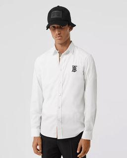 Biała koszula z monogramem
