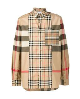 Koszula patchworkowa w kratę