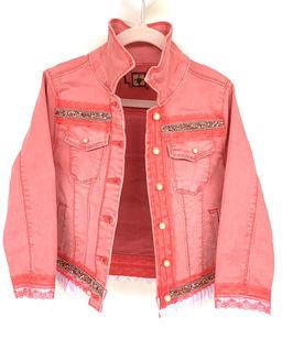 Bluza jeansowa różowa
