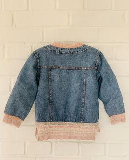 Bluza jeansowa ze  zdobieniami