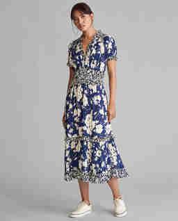 Plisované květinové šaty