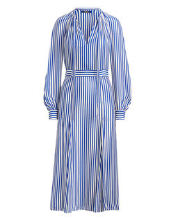 Sukienka w paski z jedwabiu