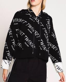 Logowany sweter z kapturem