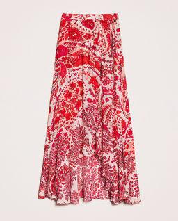 Asymetryczna spódnica z orientalnym motywem